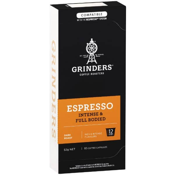 Grinders Coffee Espresso coffee full bodied capsule pack