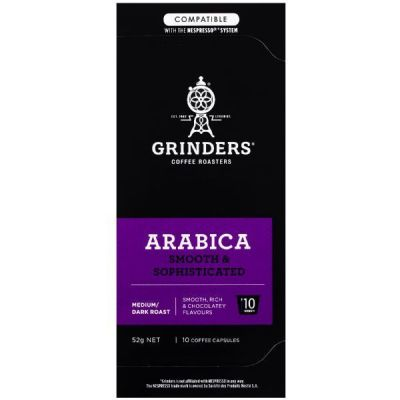 Grinders Coffee Arabica coffee capsule pack front