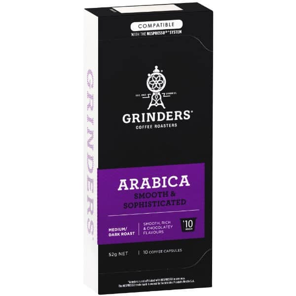 Grinders Coffee Arabica coffee capsule pack