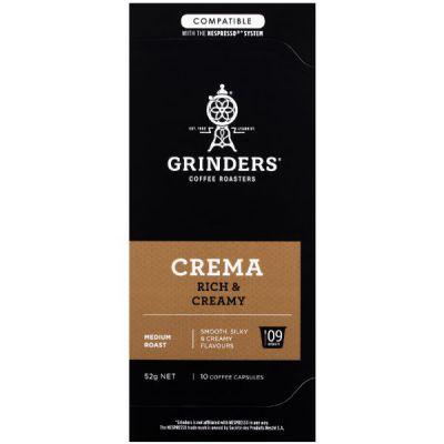 Grinders Coffee Crema coffee capsule pack front