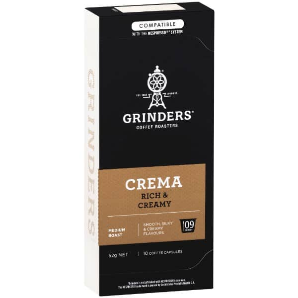 Grinders Coffee Crema coffee capsule pack