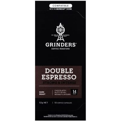 Grinders Coffee double espresso coffee capsule pack front