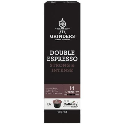Grinders Coffee double espresso coffee capsule pack front 2