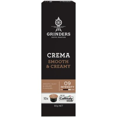 Grinders Coffee Crema smooth coffee capsule pack front