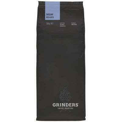 Grinders Coffee decaf bean pack front