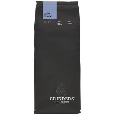 Grinders Coffee decaf ground coffee pack front