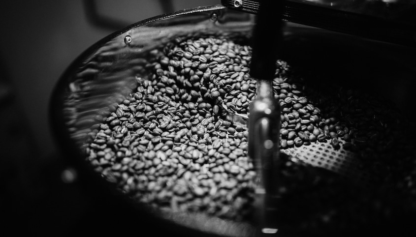 Roasting coffee beans 5