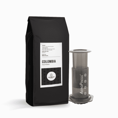 Colombia coffee with aeropress